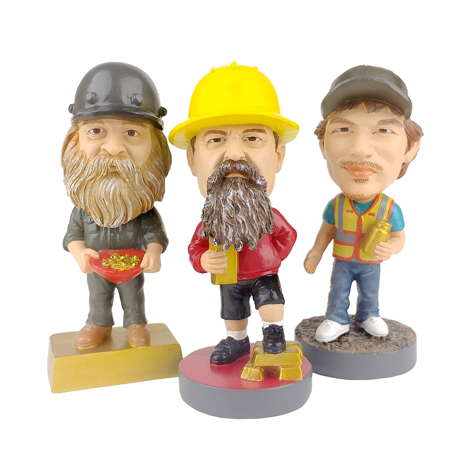 GOLD RUSH Mini Bobblehead Set