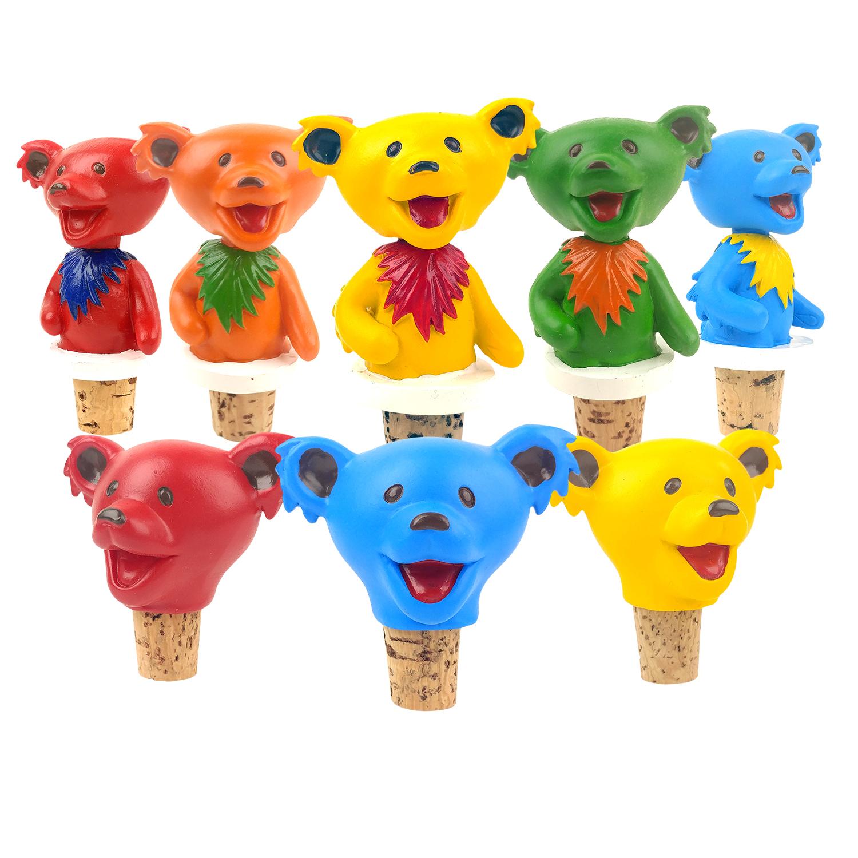 Grateful Dead Dancing Bears Bottle Stoppers – 1pc Gallery