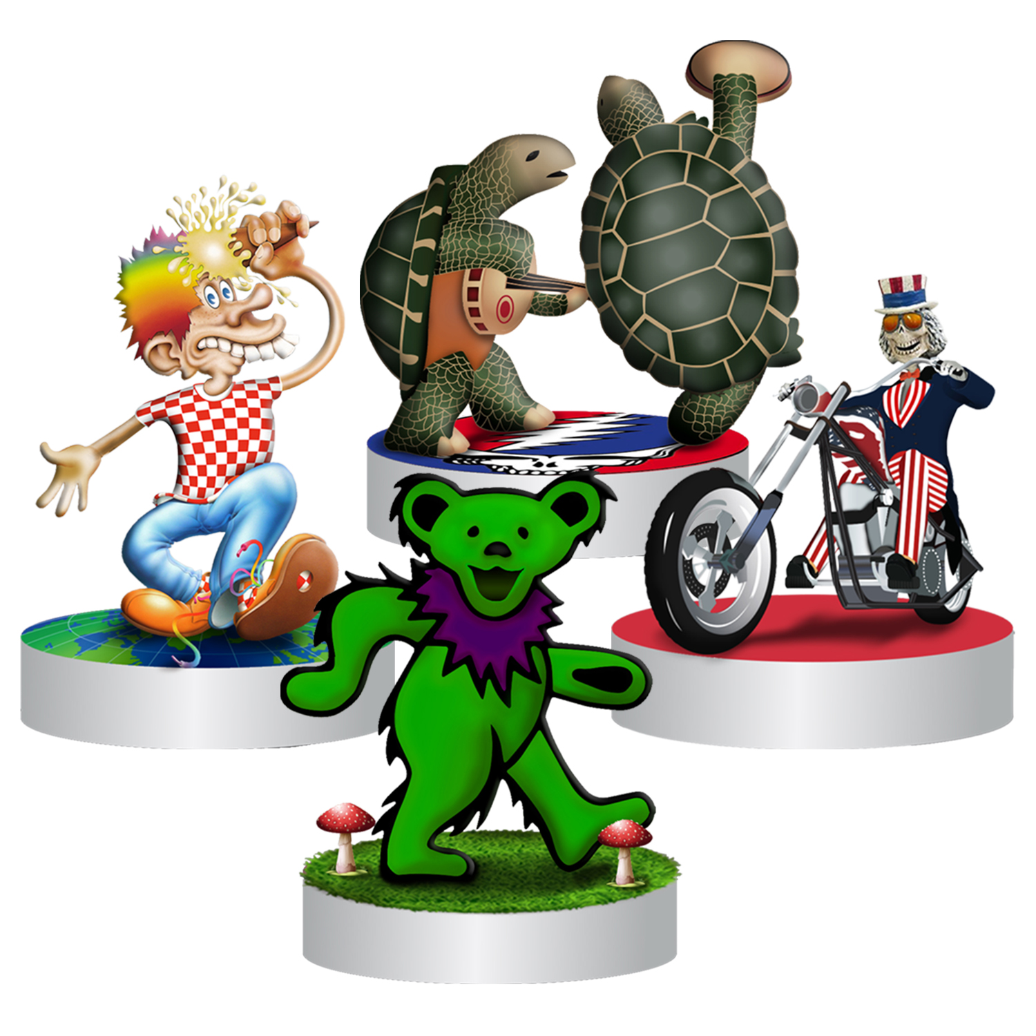Grateful Dead Dead Set Bobbleheads