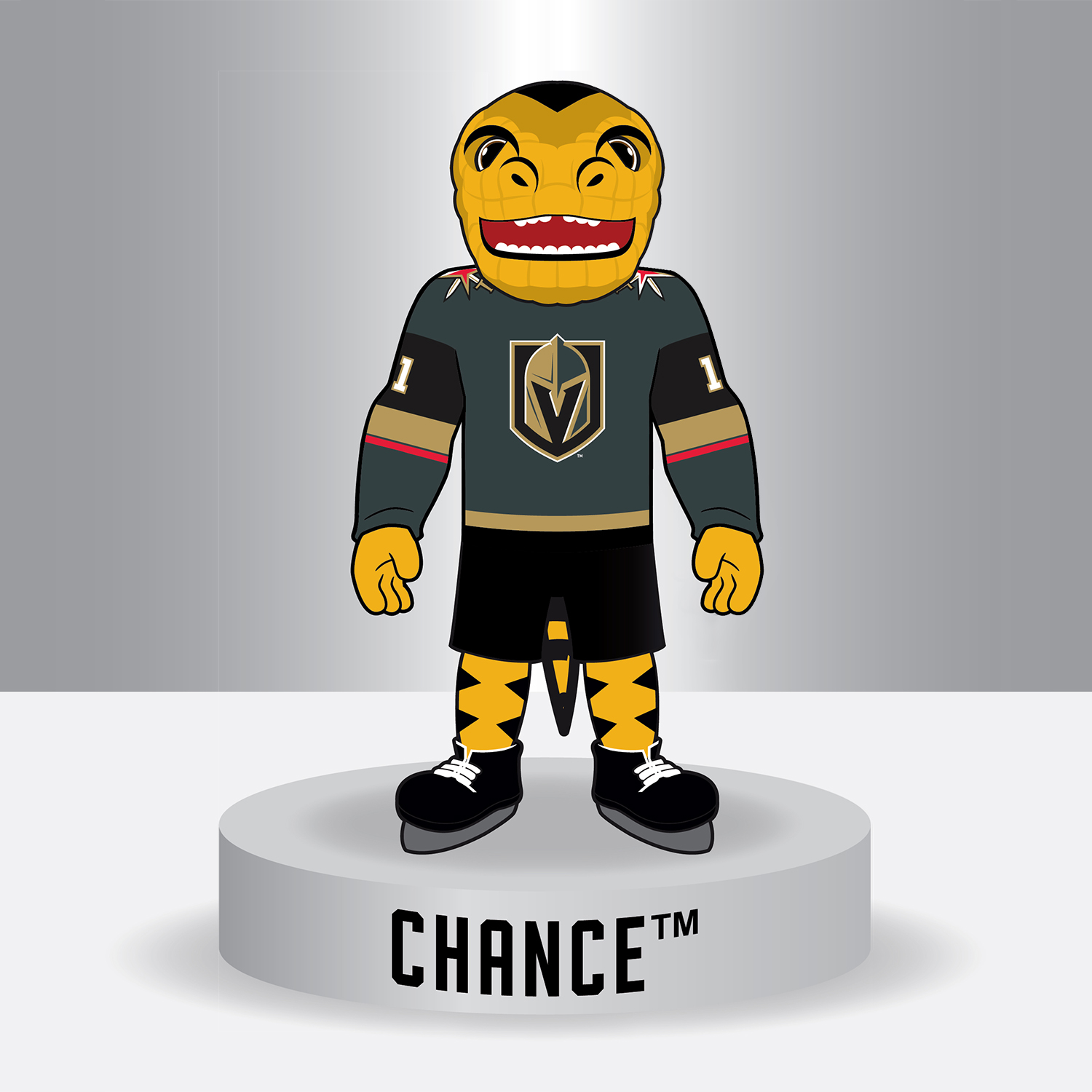CHANCE ™: The Golden Knights ® Mascot Bobblehead