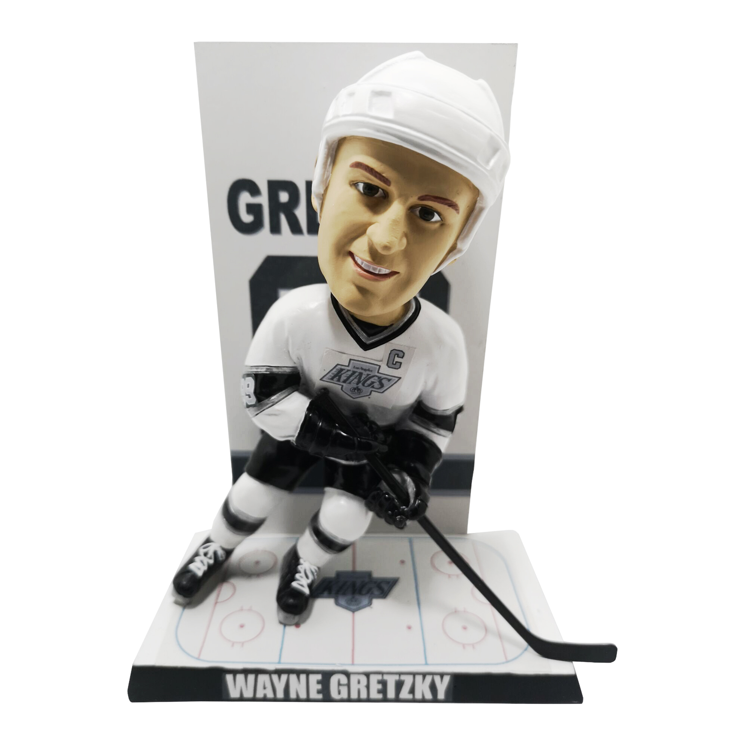 Los Angeles Kings Wayne Gretzky Retired Number Banner Bobblehead