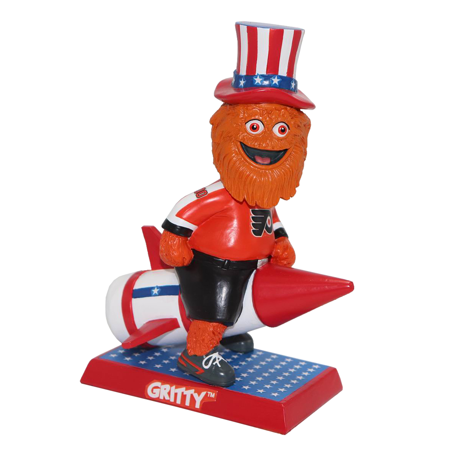 Philadelphia Flyers 4th of July Gritty Mascot Bobblehead