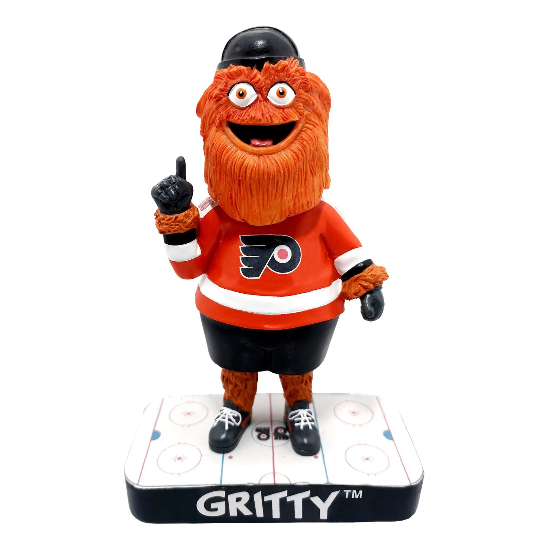 Philadelphia Flyers Gritty on Rink Base Mascot Bobblehead