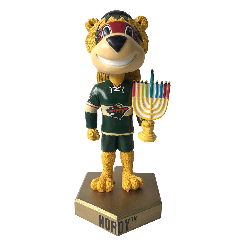 Minnesota Wild Nordy Hanukkah Mascot Bobblehead