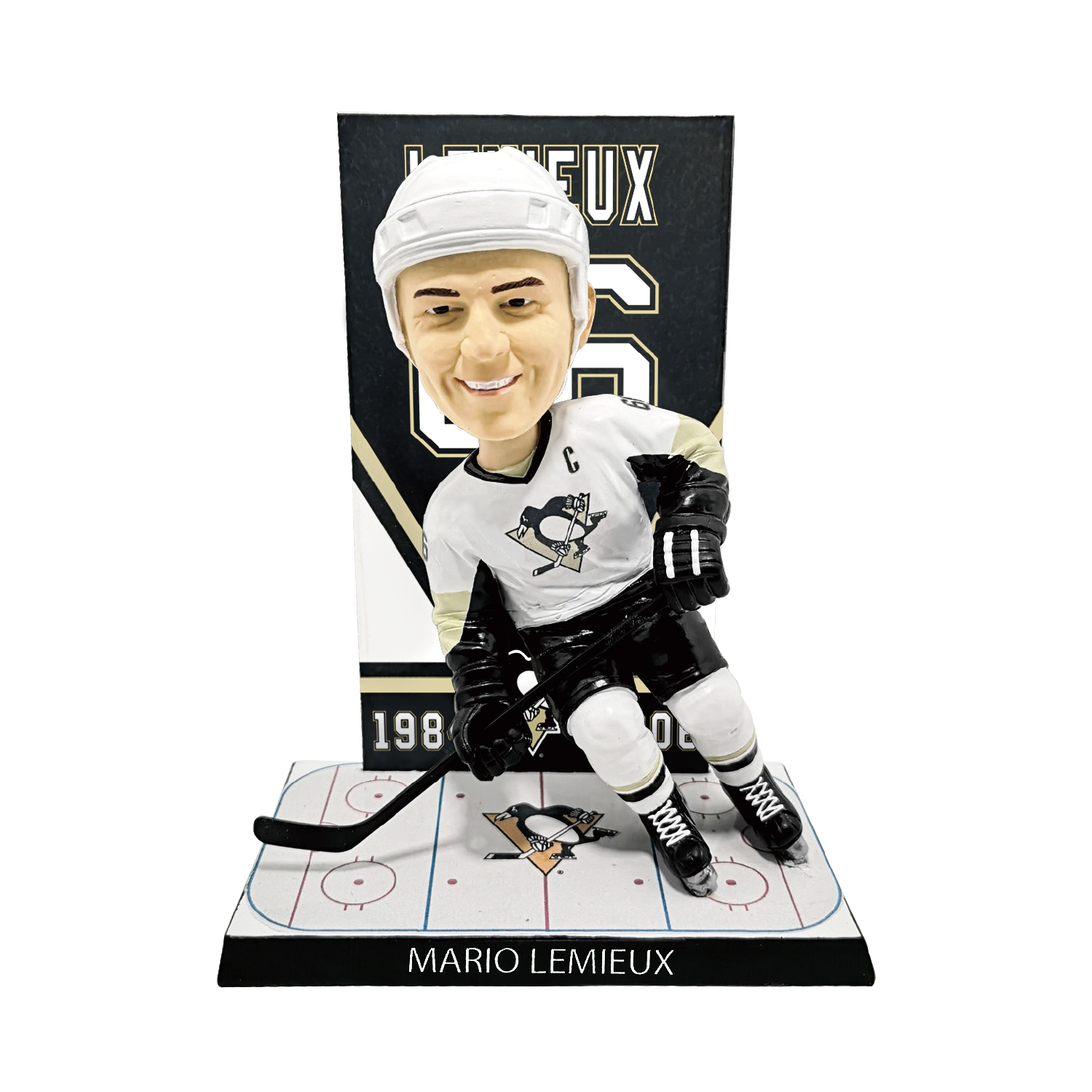 Pittsburgh Penguins Mario Lemieux Retired Number Banner Bobblehead