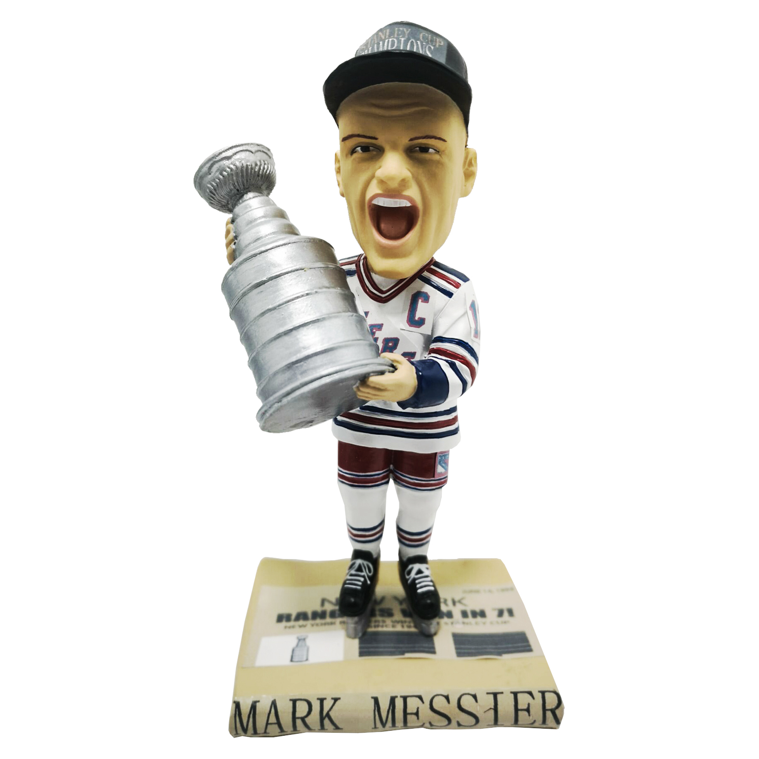 New York Rangers Mark Messier Stanley Cup Bobblehead