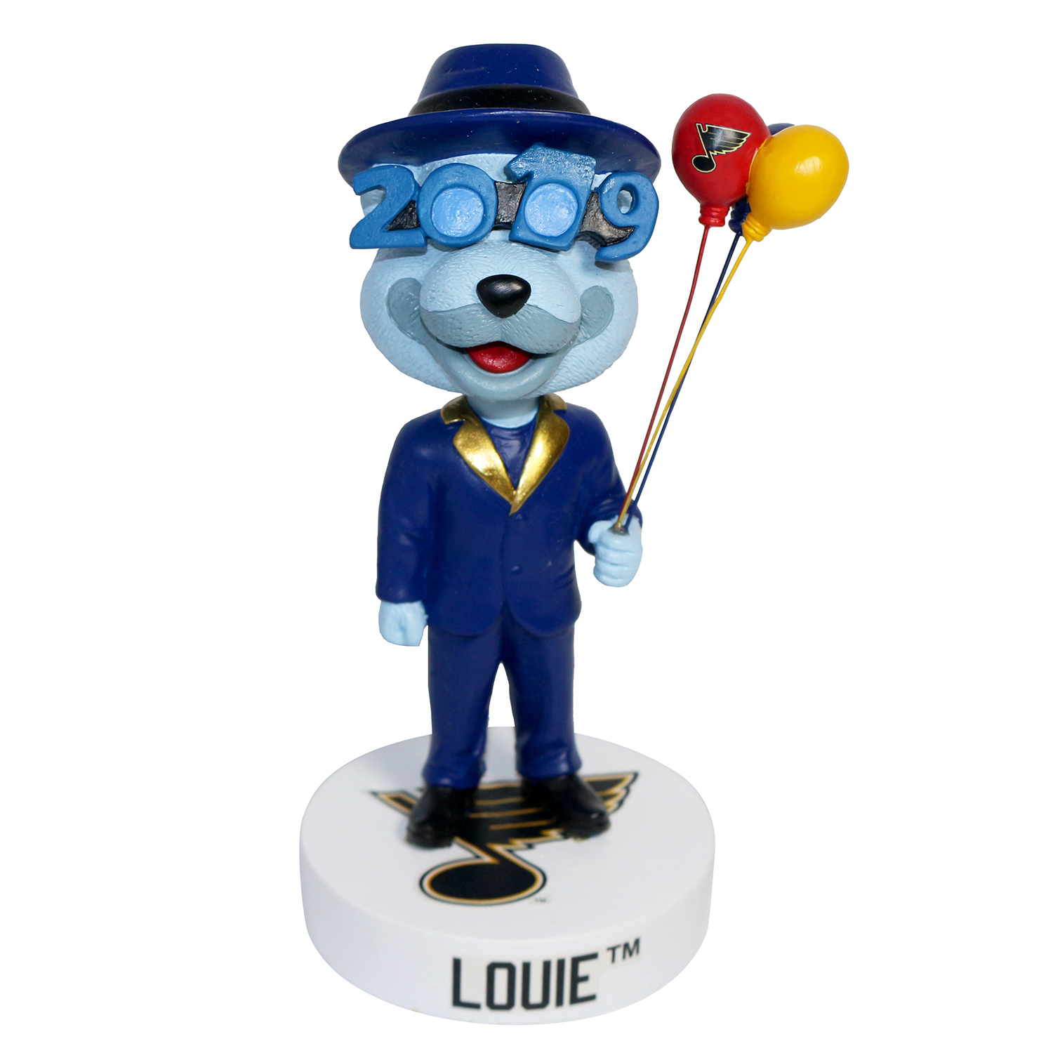 St. Louis Blues Louie New Year's Mascot Bobblehead
