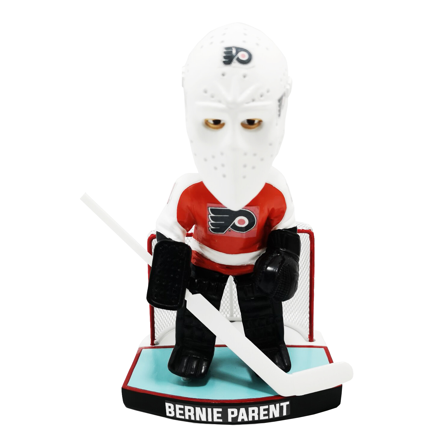Philadelphia Flyers Bernie Parent Orange Jersey Bobblehead