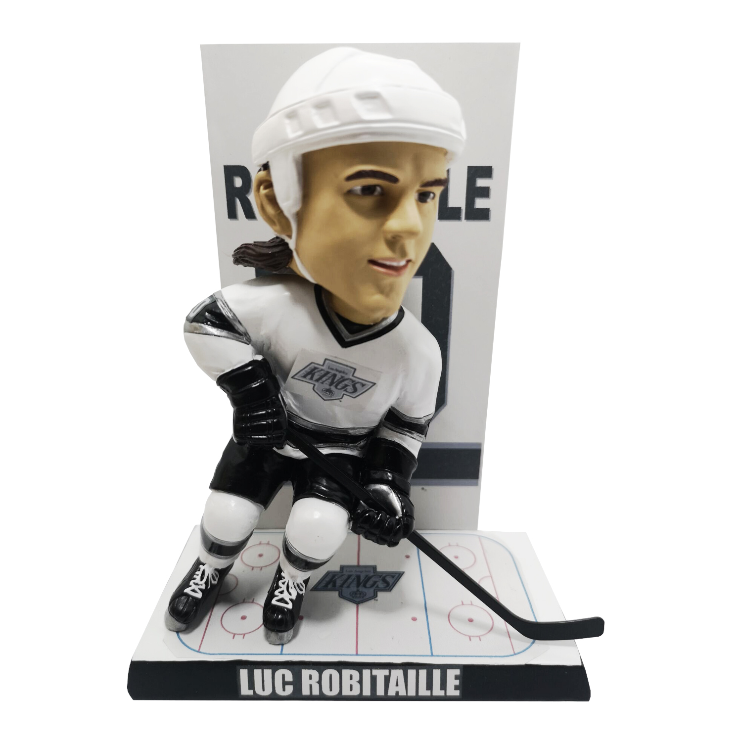 Los Angeles Kings Luc Robitaille Retired Number Banner Bobblehead