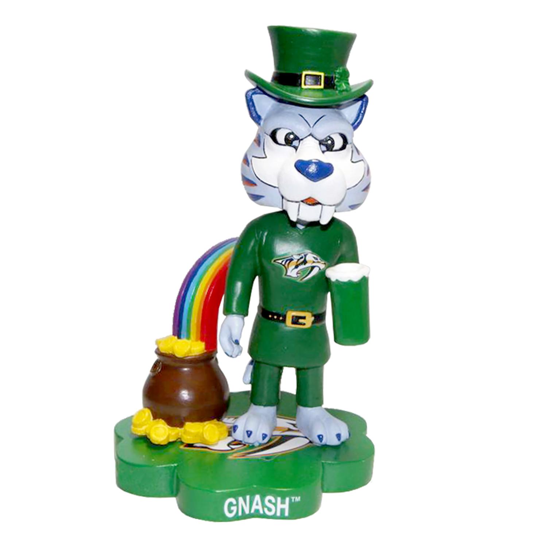 Nashville Predators Gnash St. Patrick's Day Mascot Bobblehead