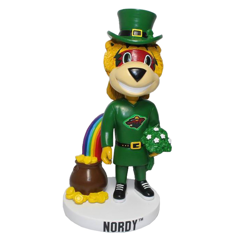 Minnesota Wild St. Patrick's Day Mascot Bobblehead