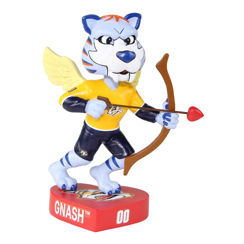 Nashville Predators Gnash Valentine's Day Mascot Bobblehead