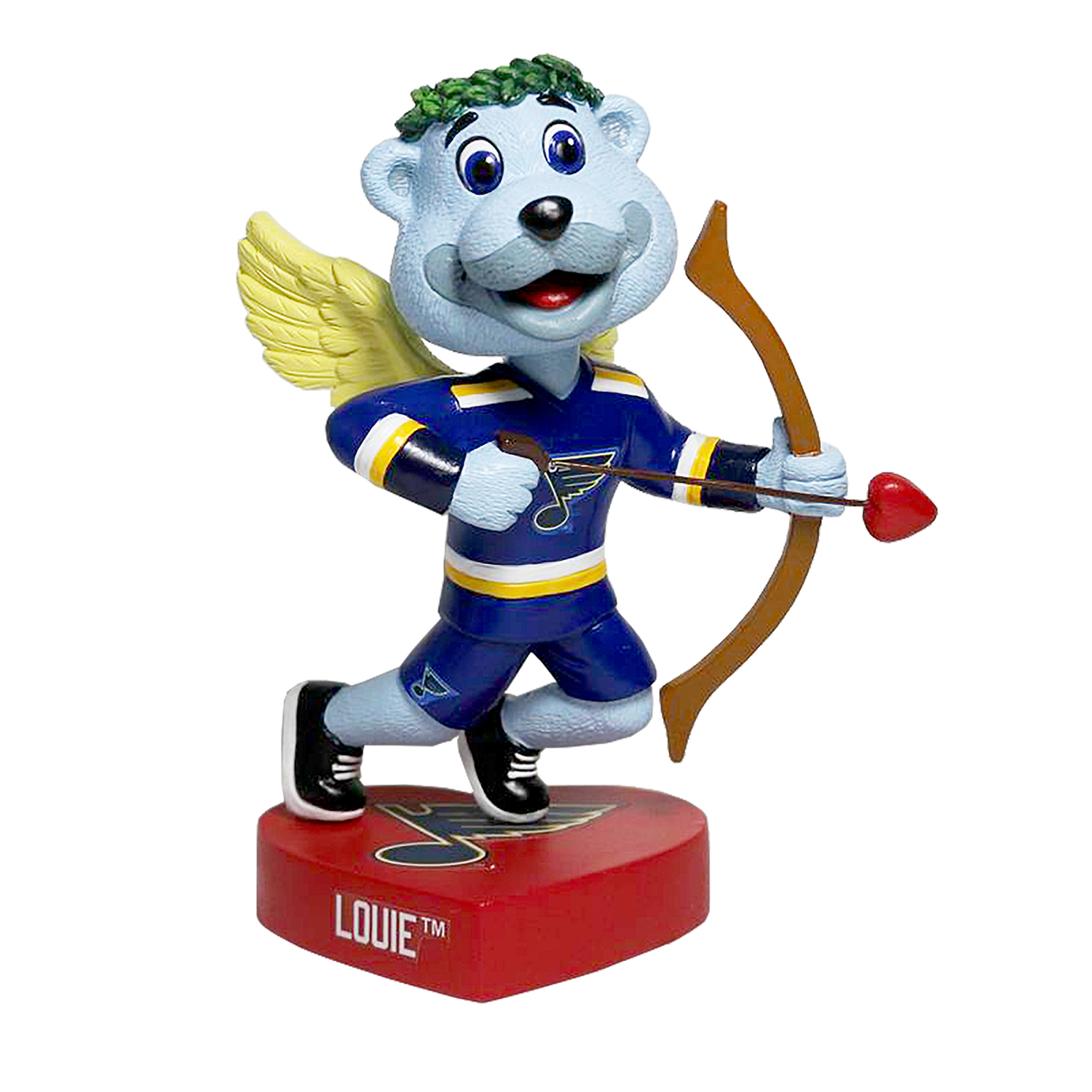 St. Louis Blues Louie Valentine's Day Mascot Bobblehead