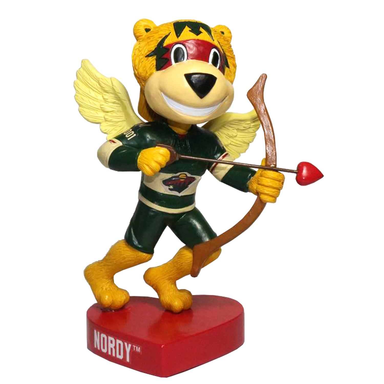 Minnesota Wild Nordy Valentine's Day Mascot Bobblehead