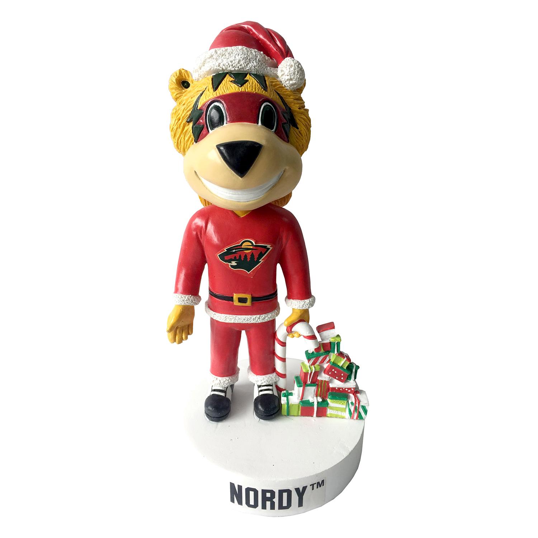 Minnesota Wild Nordy Christmas Mascot Bobblehead