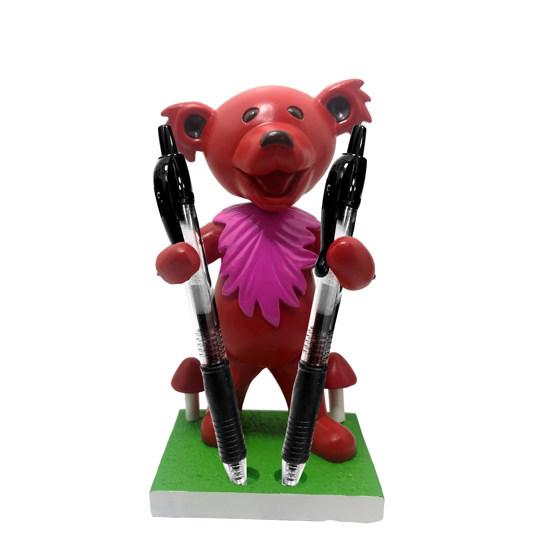 Grateful Dead Dancing Bear Pen/Toothbrush Bobblehead Holder – Red Gallery