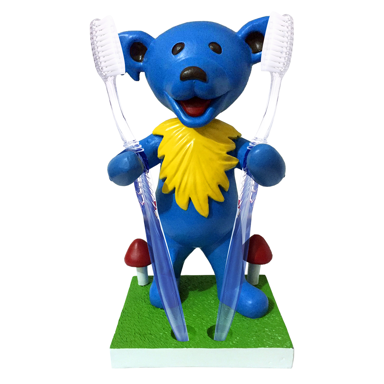 Grateful Dead Dancing Bear Pen/Toothbrush Bobblehead Holder – Blue Gallery