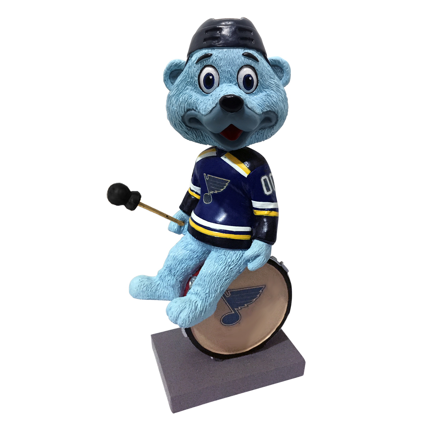 St. Louis Blues Louie on Drum Bobblehead 8 Inch
