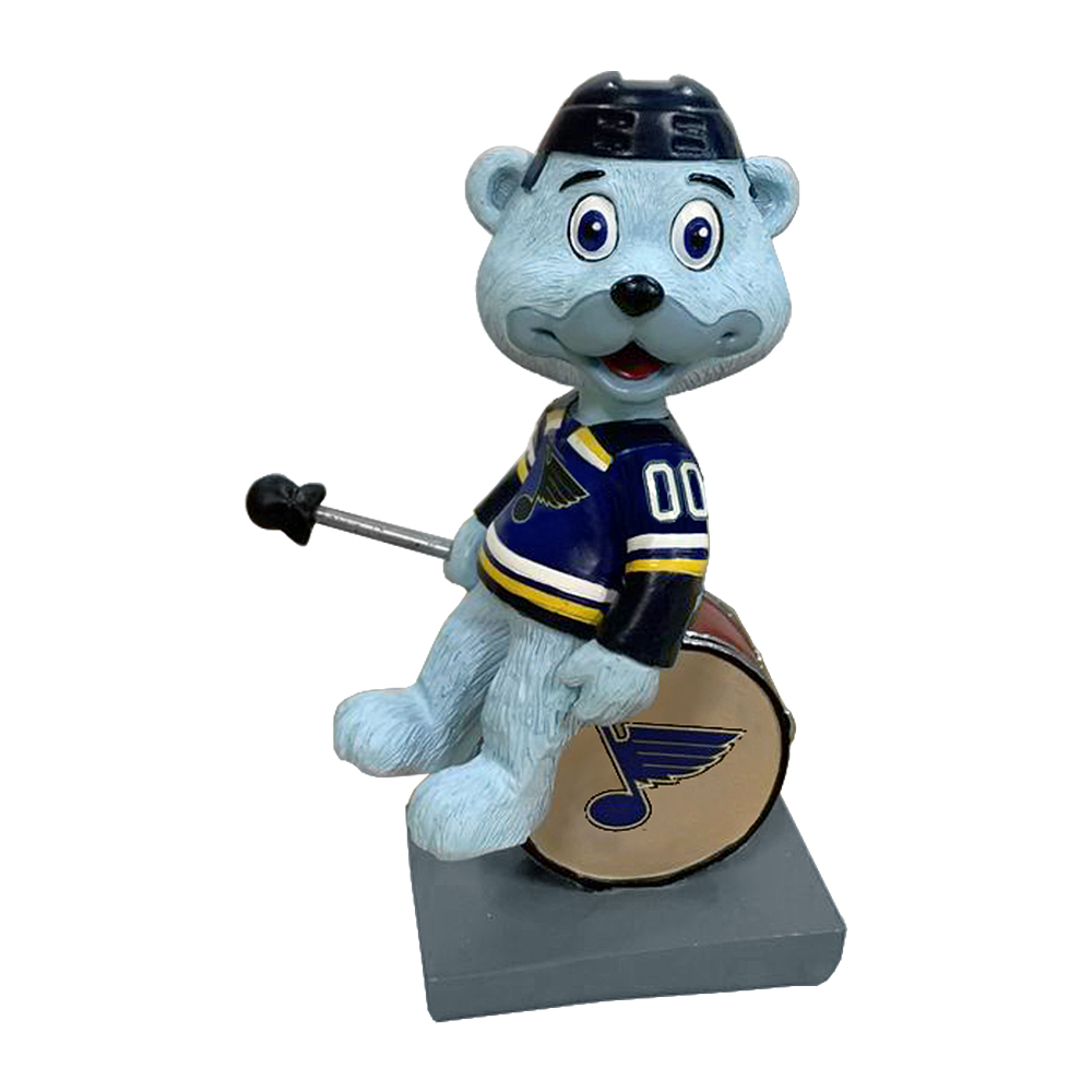 St. Louis Blues Louie on Drum Bobble Buddy 4 Inch Gallery