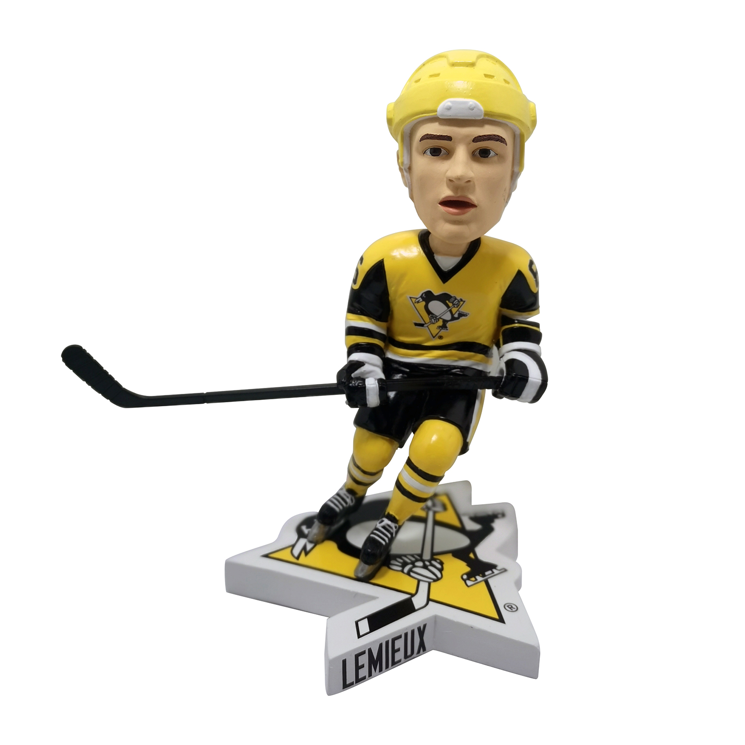 Pittsburgh Penguins Mario Lemieux Yellow Helmet Bobblehead