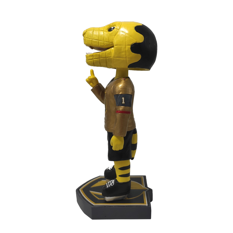 Las Vegas Golden Knights Chance Mascot Bobblehead – Gold Jersey Gallery