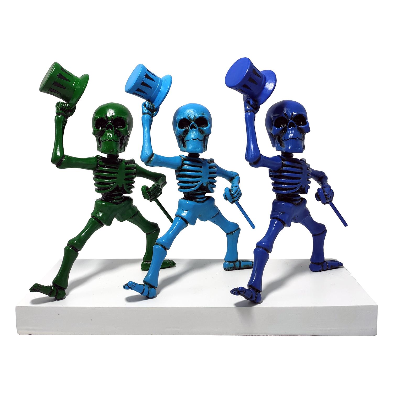 Grateful Dead Dancing Skeletons Green, Blue, Purple
