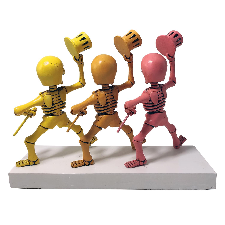 Grateful Dead Dancing Skeletons Pink, Orange, Yellow Gallery