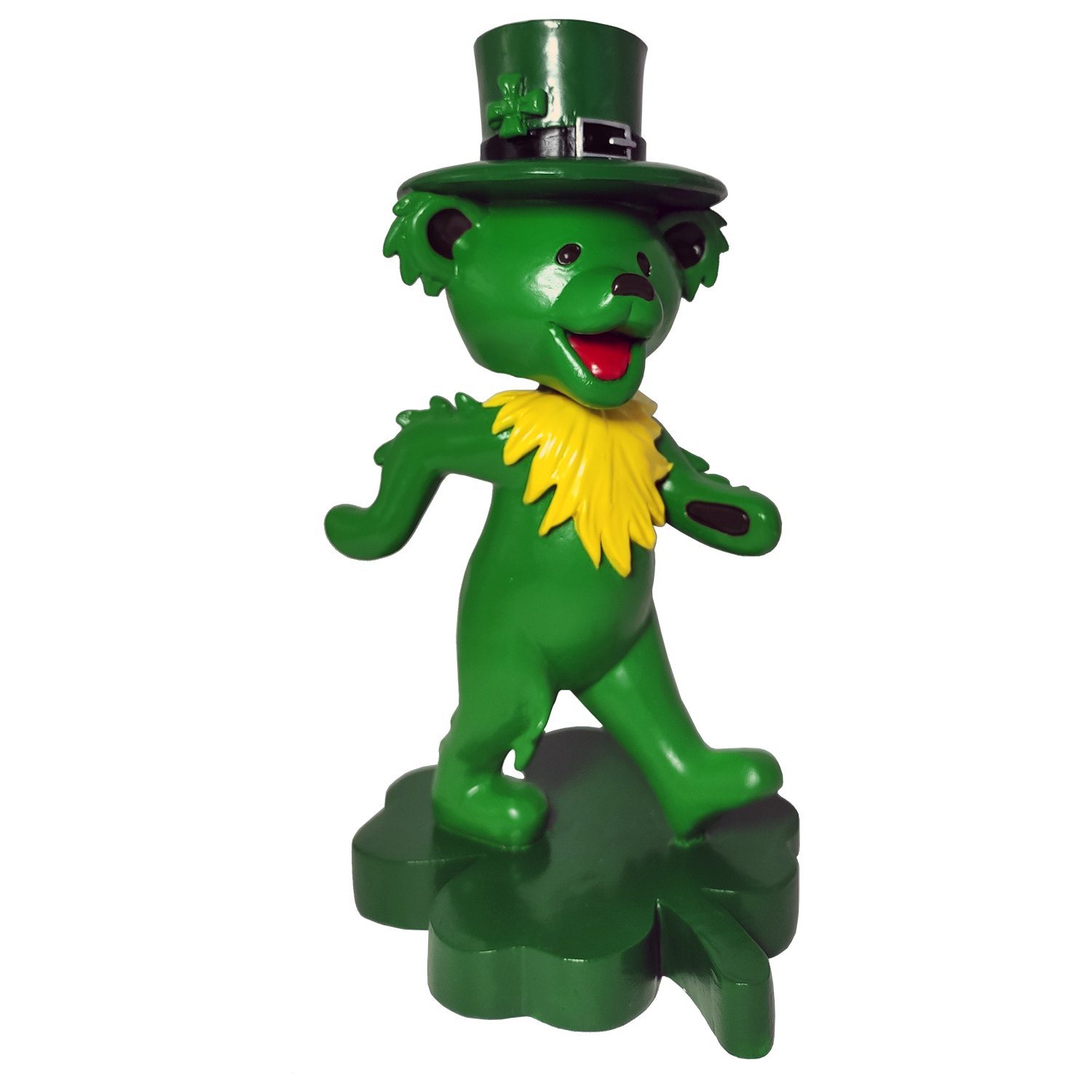 Grateful Dead Dancing Shamrock Bear Bobblehead