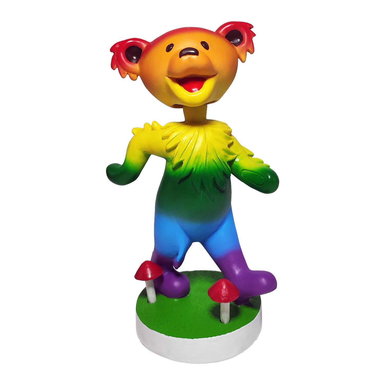 Grateful Dead Dancing Bear Bobblehead - Rainbow